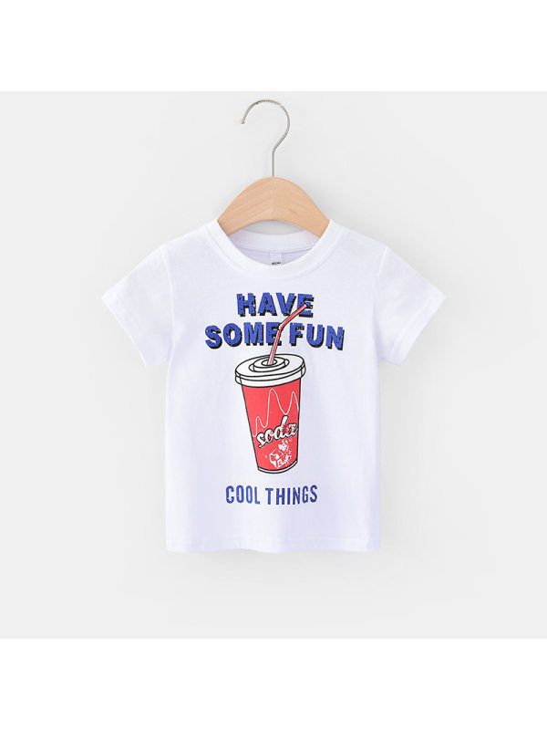 【12M-5Y】Boys Letter Print Short Sleeve T-shirt