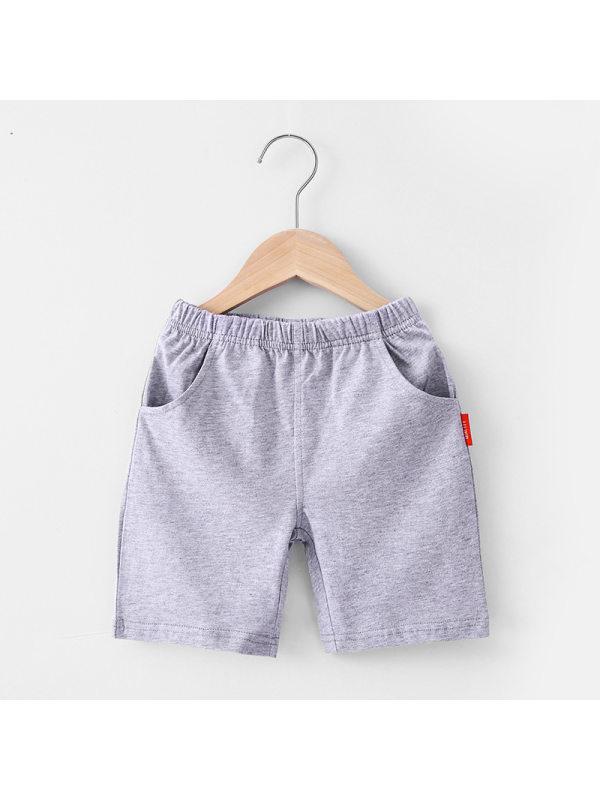 【18M-7Y】Boys' Solid Casual Sports Shorts