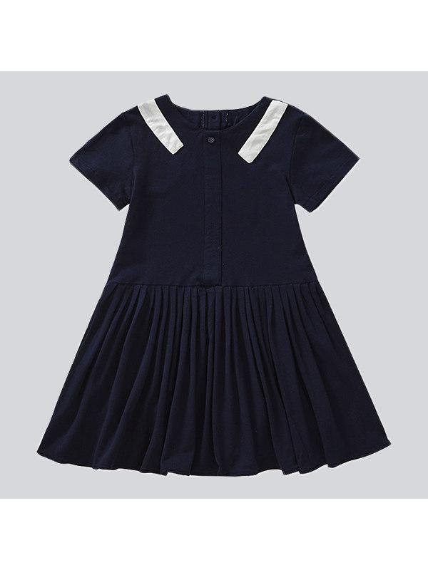 【4Y-15Y】Big Girl Mid-length Pleated Dress