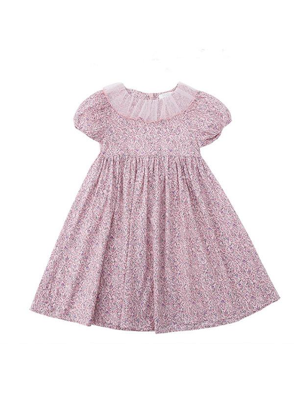 【3Y-13Y】Big Girl Doll Collar Floral Dress
