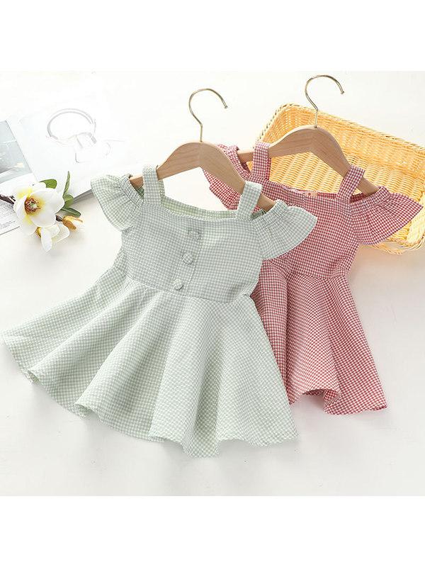 【12M-5Y】Girls Plaid Cute Sweet Skirt
