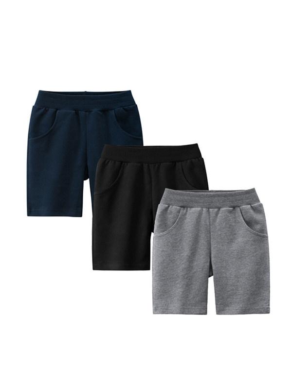 【18M-9Y】Boy's Solid Color Knit Short