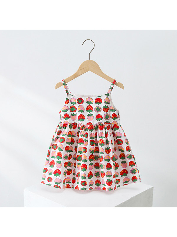 【18M-5Y】】Girls Sweet Cartoon Sling Dress