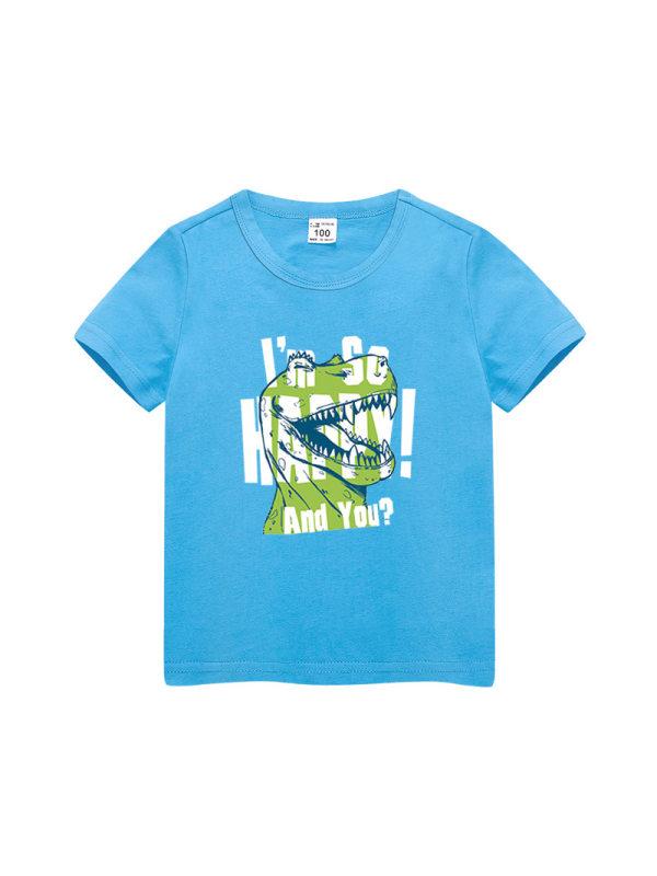 【3Y-11Y】Boys Cartoon Print Short Sleeve T-shirt