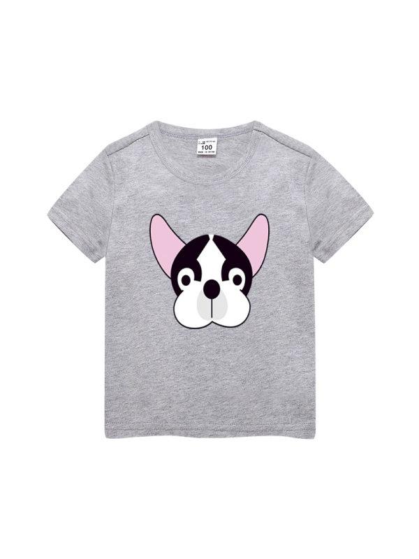 【3Y-13Y】Boys Cartoon Print Trend Short Sleeve T-shirt