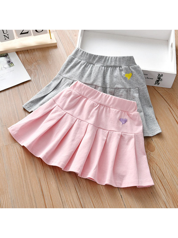 【18M-7Y】Girls College Style Pleated Skirt