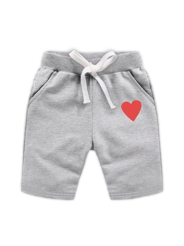 【18M-11Y】Boys Heart Print Shorts