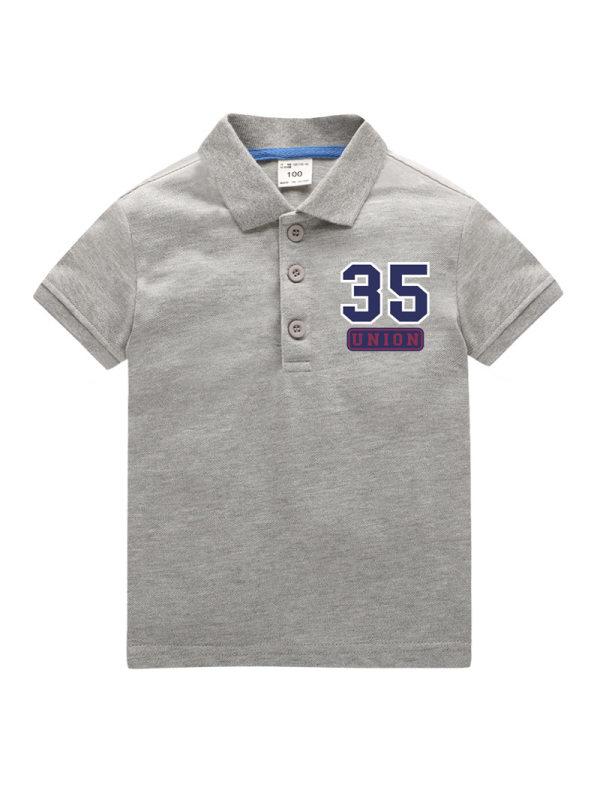 【18M-11Y】Boys Printed Short-sleeved Polo Shirt