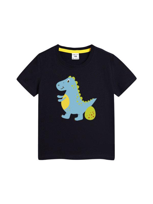 【3Y-11Y】Boys Dinosaur Print Short Sleeve T-shirt