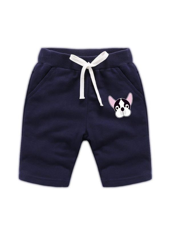 【18M-11Y】Boys' Cartoon Print Trendy Knitted Shorts