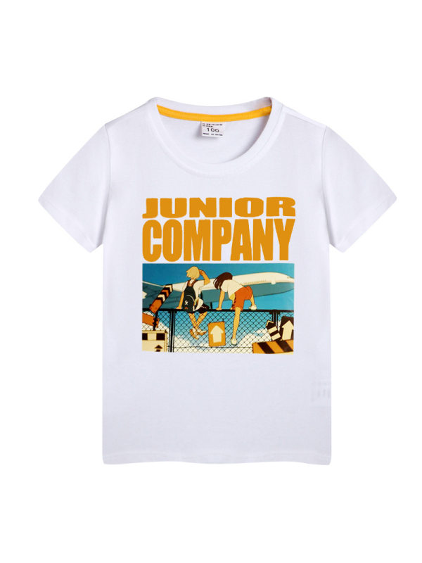 【2Y-11Y】Boys Letter Cartoon Print Short Sleeve T-shirt