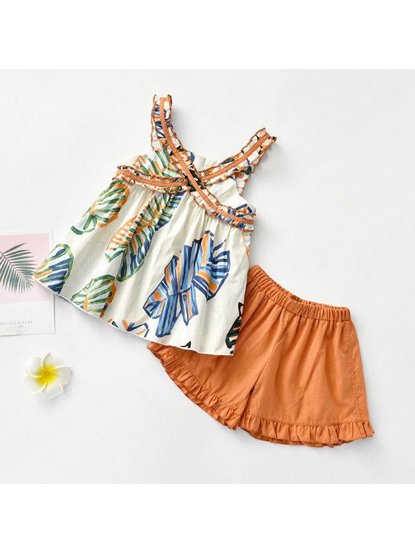 【18M-7Y】Girls Camisole Cute Shorts Set