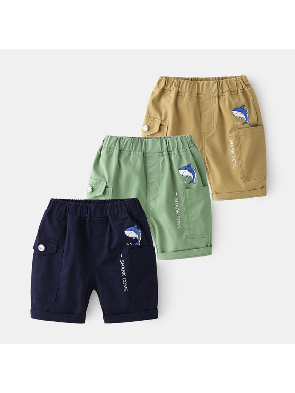 【2Y-9Y】Boys Cartoon Print Trendy Shorts
