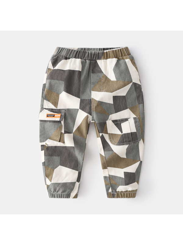 【18M-7Y】Boys Camouflage Trend Trousers