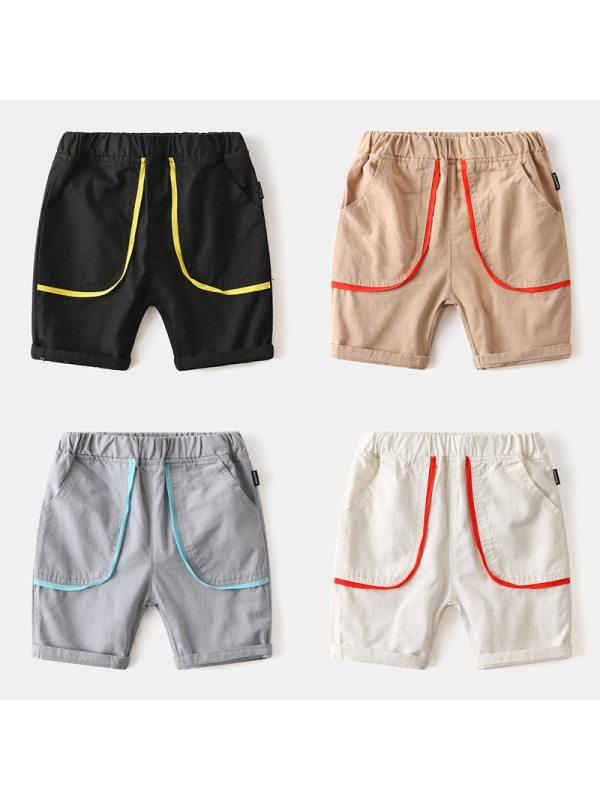 【18M-7Y】Boys Contrast Stitching Casual Shorts