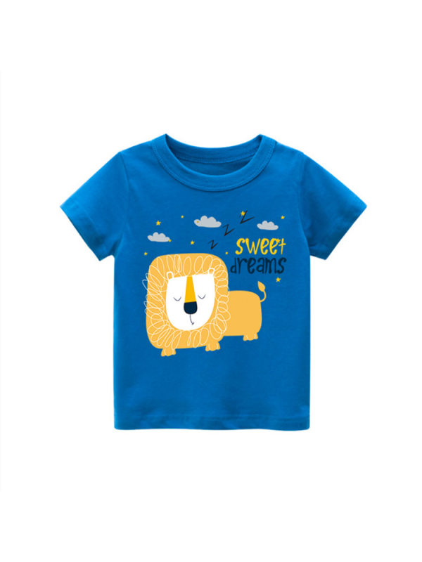 【18M-9Y】Boys Cartoon Print Short-sleeved T-shirt