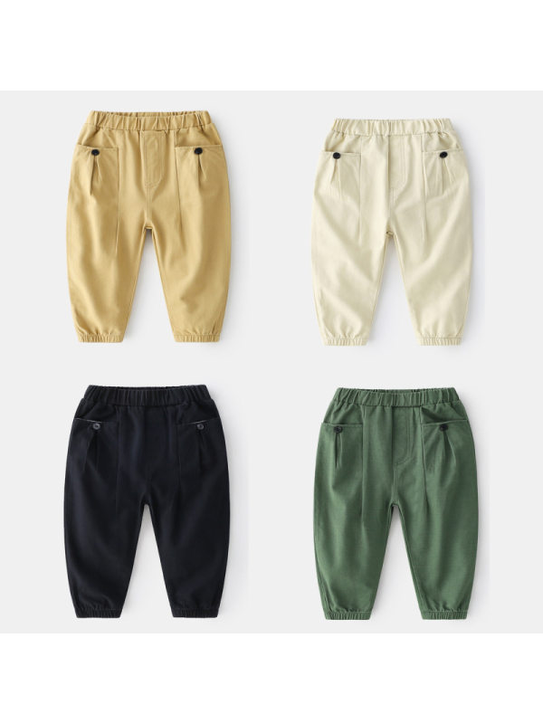 【18M-7Y】Boys Solid Casual Trousers