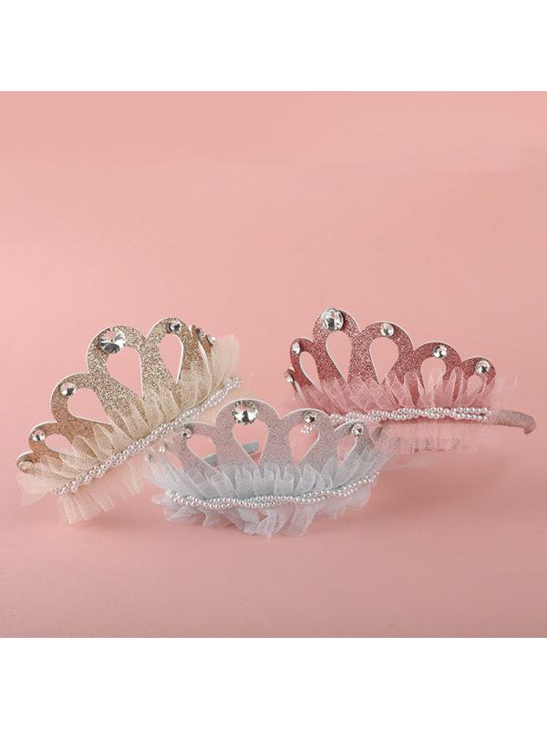 Girls Sweet Princess Crown Headband Birthday Headband