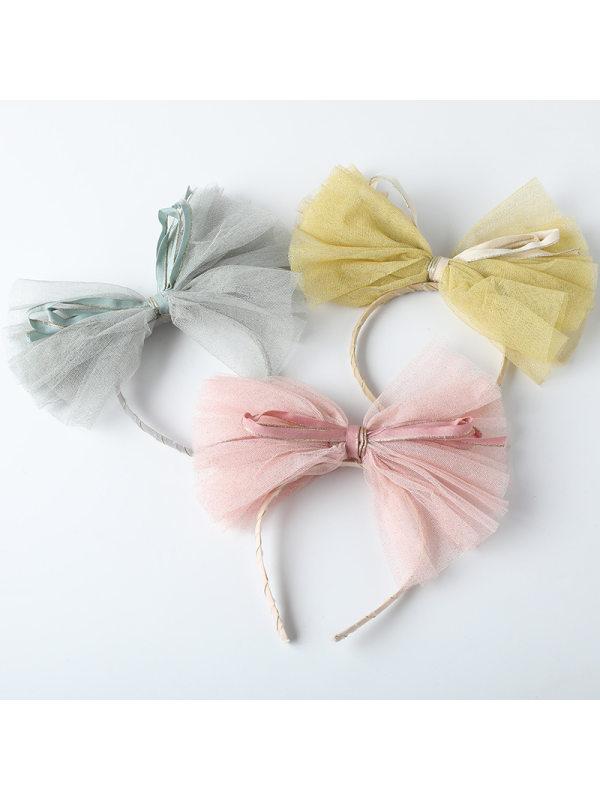 Girls Cute Sweet Mesh Big Bow Headband