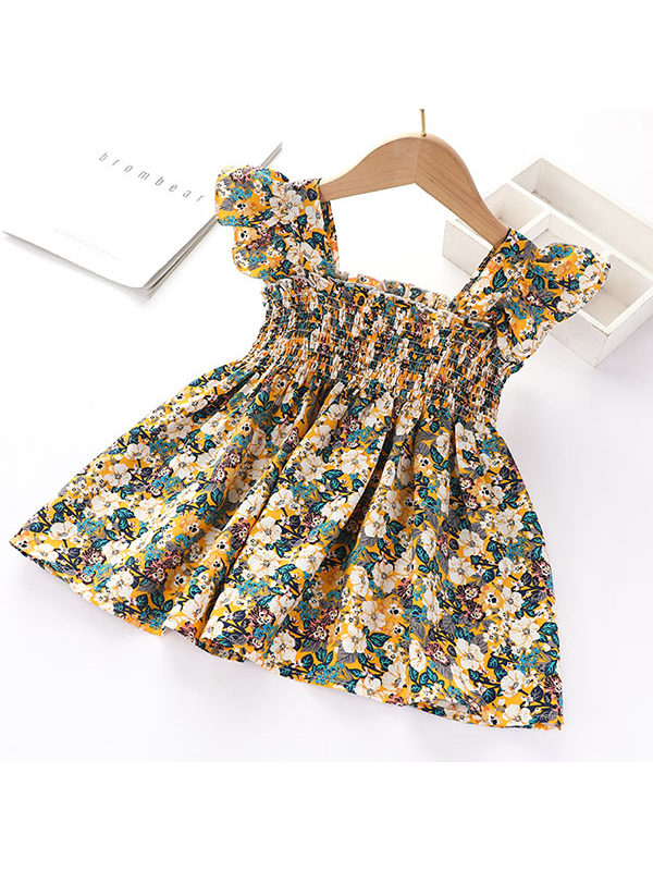 【18M-5Y】Girls Small Floral Sleeveless Dress