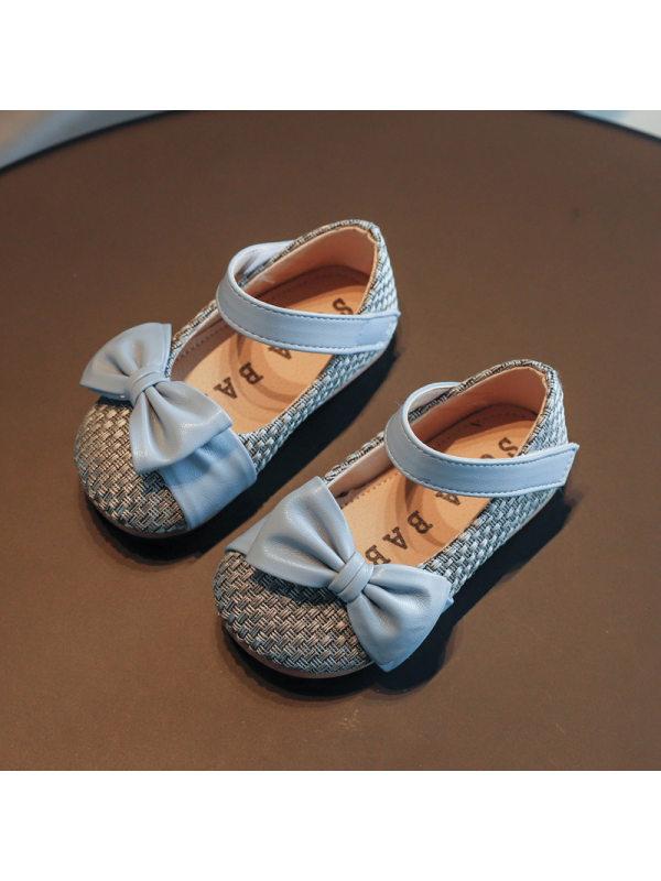 Girls Sweet Bow Decoration Princess Shoes