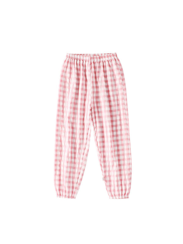 【2Y-13Y】Boys Check Lantern Cropped Pants