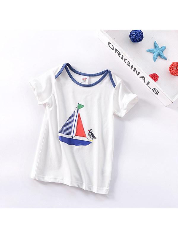 【12M-5Y】Boys Cartoon Print Short Sleeve T-shirt
