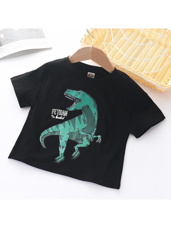 【18M-13Y】Boys Dinosaur Print Short Sleeve T-shirt