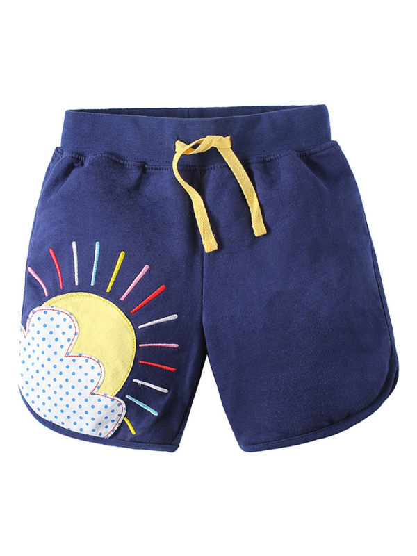 【12M-11Y】Boys Personality Embroidered Sports Shorts