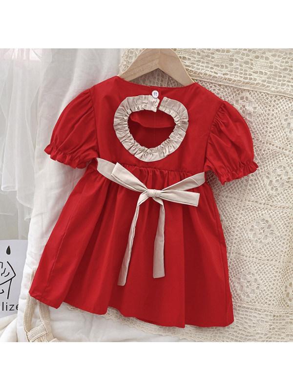 【18M-7Y】Sweet Puff Sleeve Dress