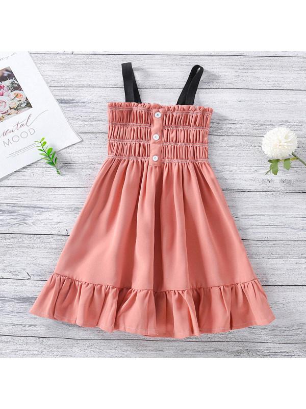 【18M-7Y】Sweet Ruffled Pink Dress
