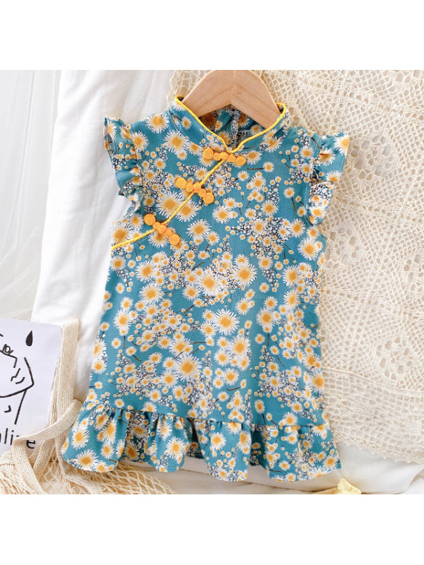 【12M-9Y】Sweet Flower Print Dress