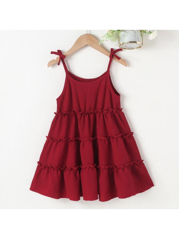 【18M-7Y】Sweet Red Sling Dress