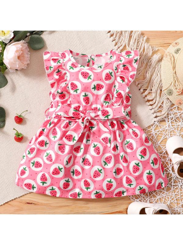 【12M-5Y】Cute Print Round Neck Dress