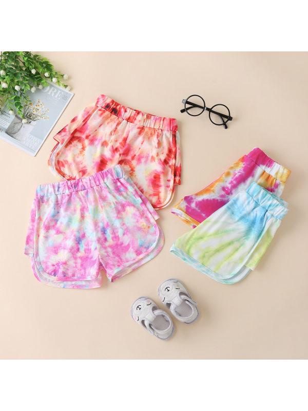 【18M-6Y】Girls Fresh Sweet Fashion Casual Thin Tie-dye Shorts
