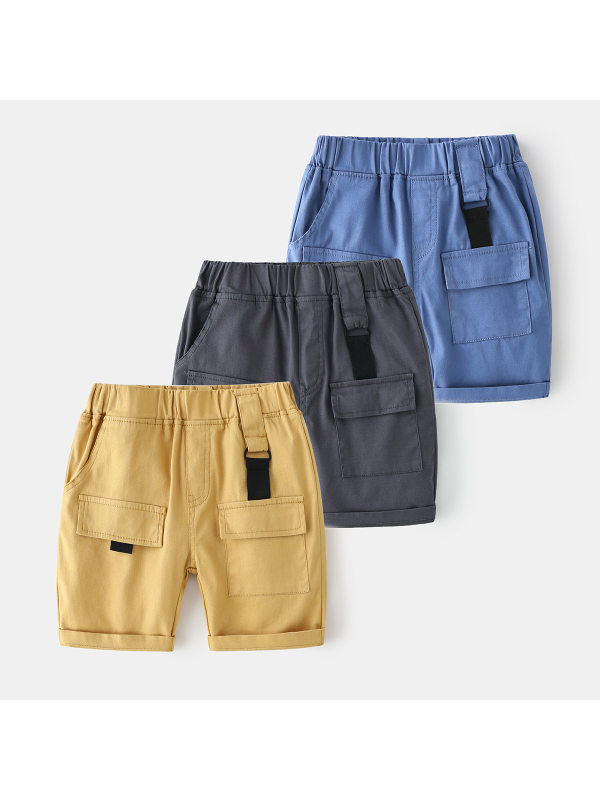 【2Y-9Y】Boys Trendy Overalls Five-point Pants