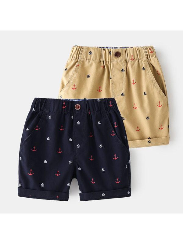 【2Y-9Y】Boys Cartoon Print Trendy Five-point Pants