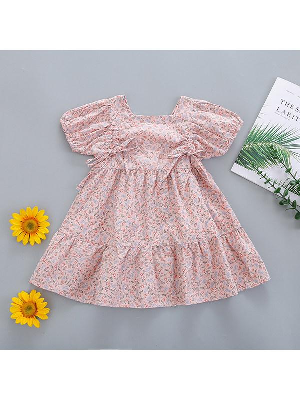 【18M-7Y】Girls Floral Lace Dress