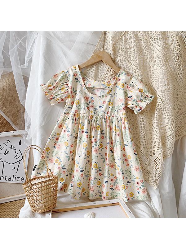 【12M-7Y】Girls Sweet Floral Dress