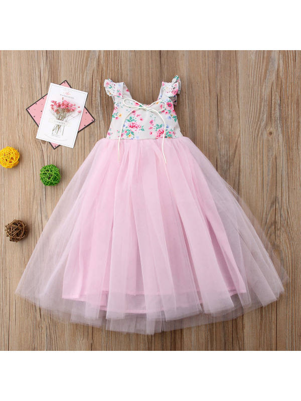 【2Y-11Y】Girls' Mesh Skirt Princess Dress
