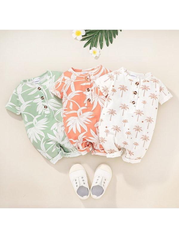 【0M-12M】Baby Summer Short-sleeved Romper Romper