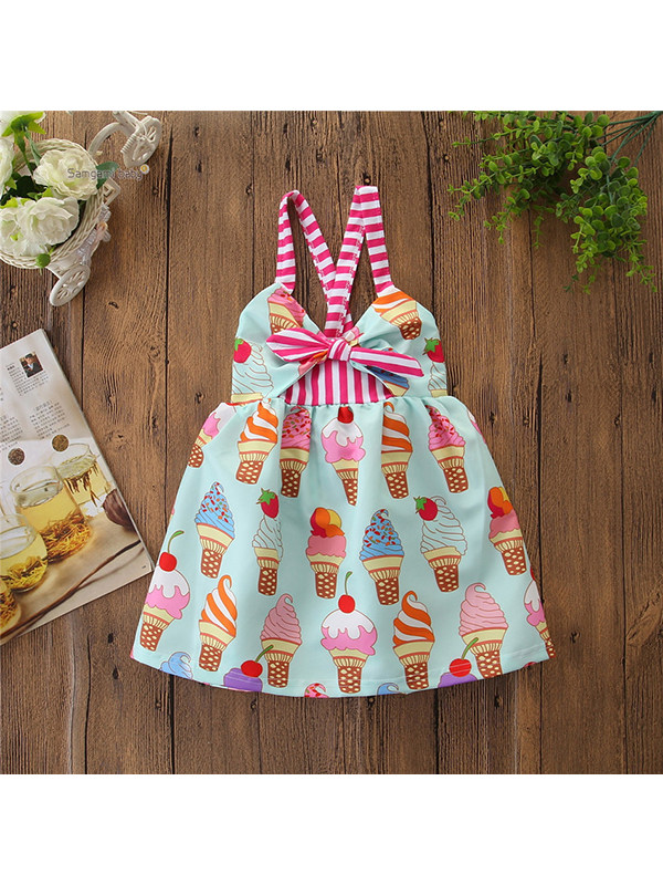 【12M-5Y】Girls Sling Ice Cream Print Dress