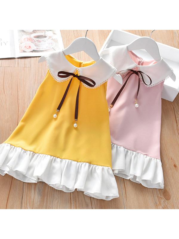 【18M-7Y】Girls Sleeveless Bowknot Dress