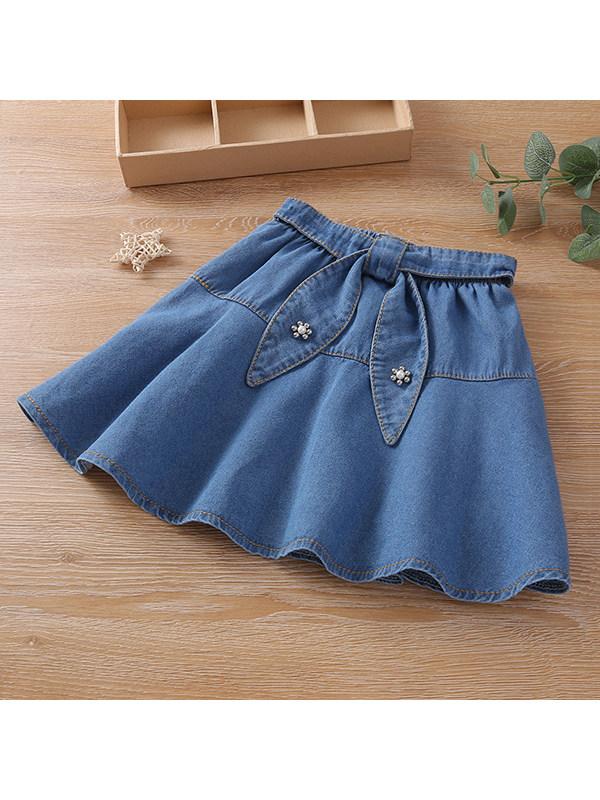 【3Y-13Y】Girls Casual Denim Skirt