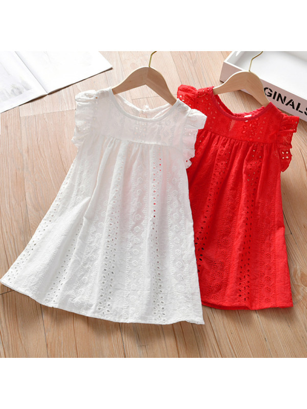 【18M-7Y】Girls Sweet Lace Embroidered Dress