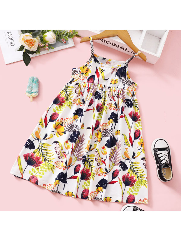 【18M-7Y】Sweet Flower Sling Dress