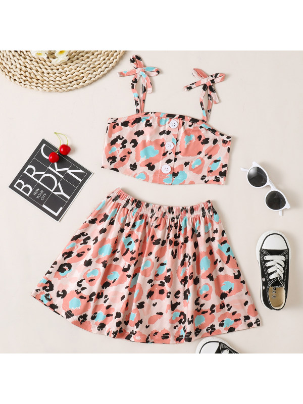 【18M-7Y】Sweet Pink Leopard Print Set