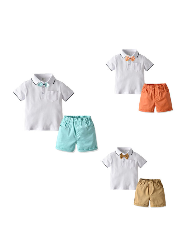 【12M-5Y】Casual Lapel Shirt Suit