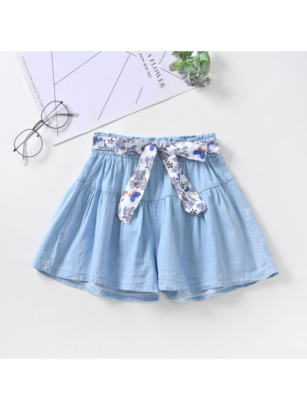 【3Y-13Y】Girls' Denim Shorts