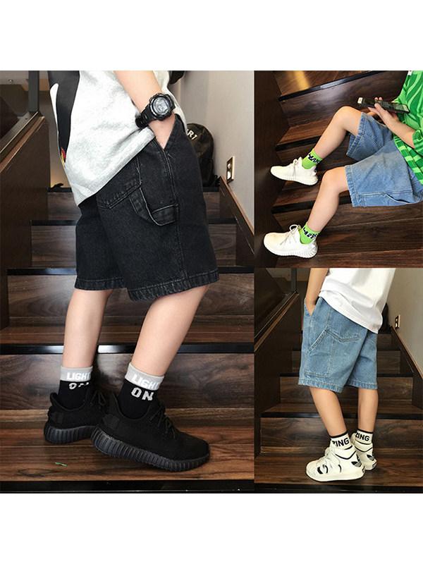 【3Y-13Y】Boys' Five-point Jeans